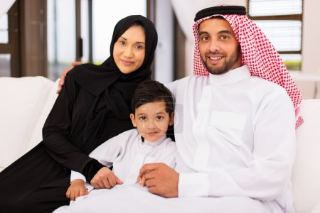muslim family at home