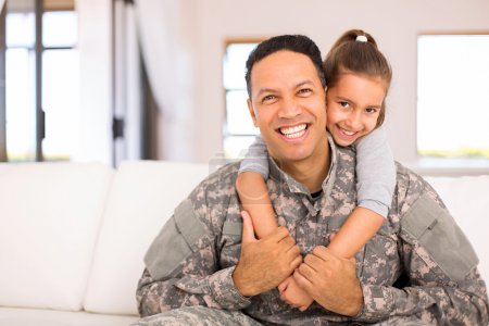daughter and military father