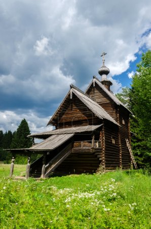 Ancient traditional Russian Orthodox wooden church