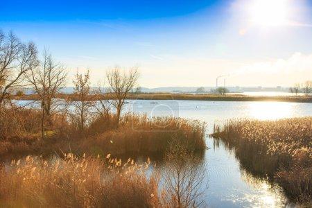 красивая река Днепр в Украине