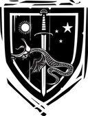 Heraldic Shield Dragon Slaying