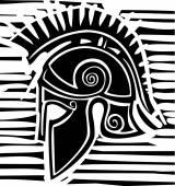 Hoplite Greek Helmet Profile