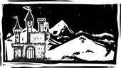 Dřevořez hora hrad