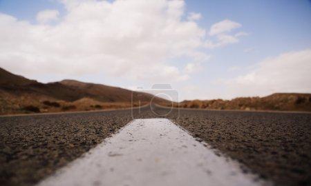 road in desert Negev