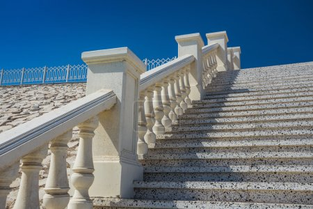 Stone staircase with balustrade