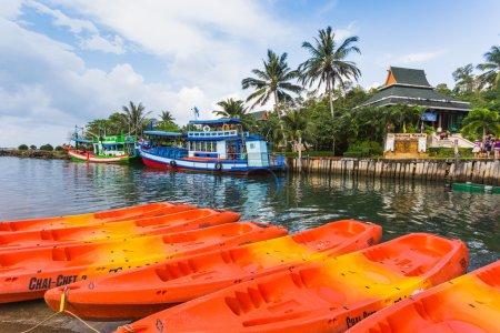 Fishing boats and kayaks in Ko Chang