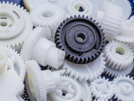 Plastic gear close-up