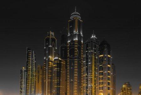 Nightlife in Dubai Marina.