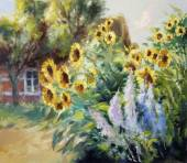 rural summer motif painting