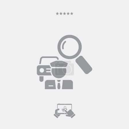Illustration pour Trouver un service de chauffeur de voiture - image libre de droit