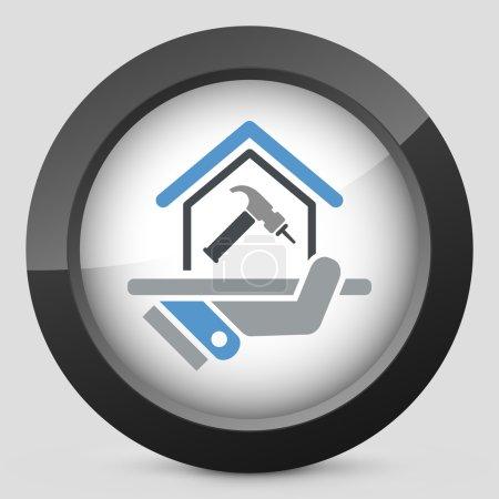 Illustration pour Icône de réparation à domicile - image libre de droit