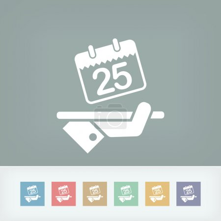 Illustration for Booking icon - Royalty Free Image