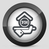 Hotel icon Daily concept icon