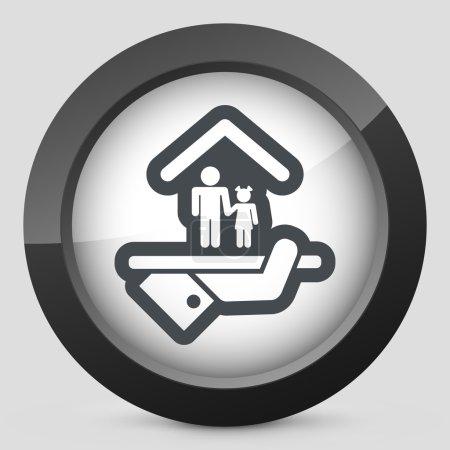 Hotel icon. Services for children.