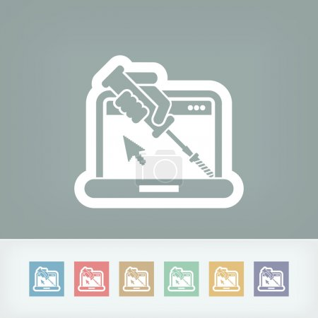 Computer assistance icon