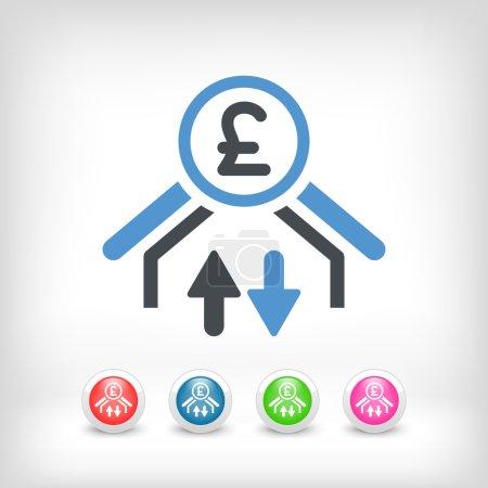 Money transfer icon - Sterling