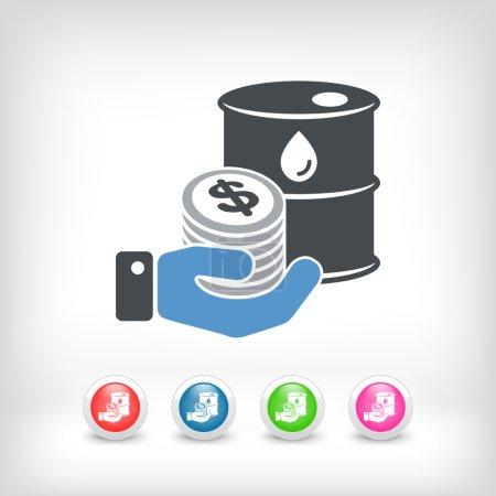 Petroleum price icon