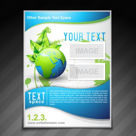 Illustration for Vector eco friendly brochure flyer template illustration - Royalty Free Image