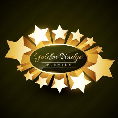 beautiful golden star burst label
