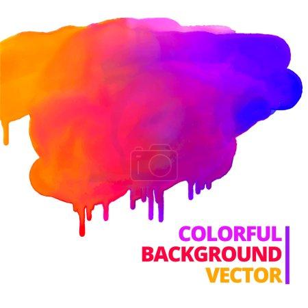 Illustration for Flow of paint colors ink splash vector design illustration - Royalty Free Image