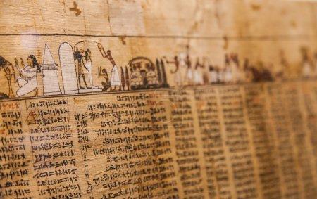 Photo pour Détail de l'ancien livre des morts (1070 av. j.-c.), Thèbes - Egypte - image libre de droit