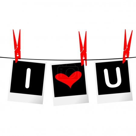 I love you on photo frames