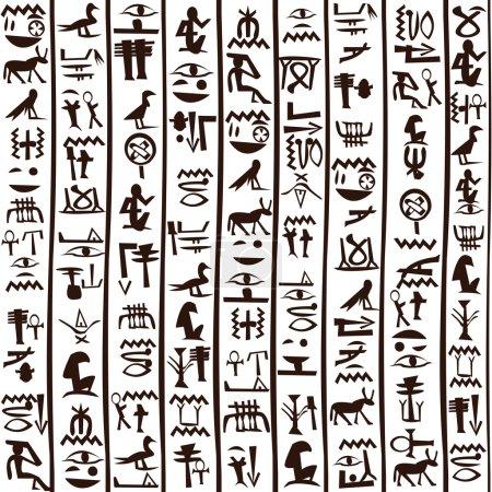 Black and white Egyptian hieroglyphics background...