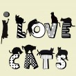 I love card card with cats silhouettes...