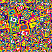 Colorful geometrical shapes background with rectangles included in one another
