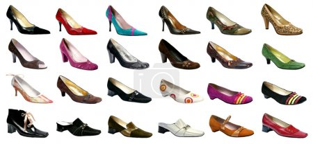 Collection of feminine footwear