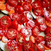 Plátky rajčat na vaření