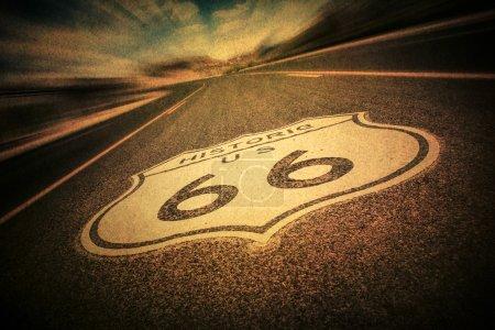 Route 66 Sign Vintage