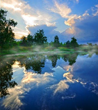 Spring morning on the lake
