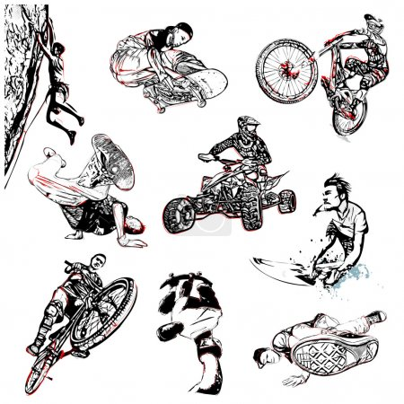 Extreme sport illustration