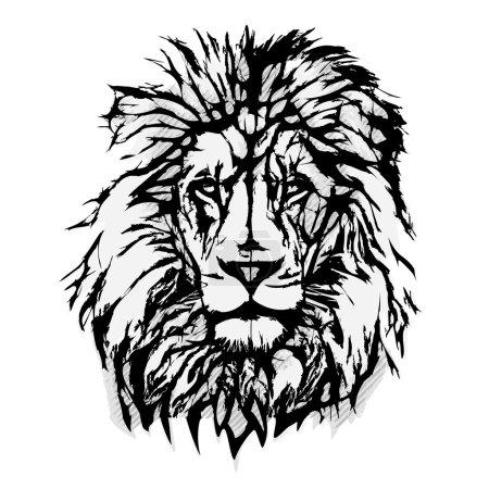 Illustration pour Illustration vectorielle tête de lion - image libre de droit