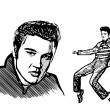 Постер, плакат: Elvis presley vector illustratiion
