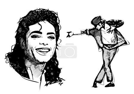 Illustration for Michael jackson vector illustration - Royalty Free Image