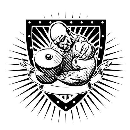 bodybuilder shield