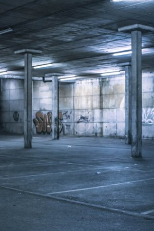 Interior of an undercover parking area