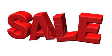 Photo pour Word Sale écrit en lettres rouges 3d - image libre de droit