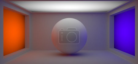 Photo for White 3d ball in the colorfull studio room - Royalty Free Image