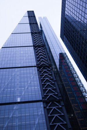 background of contemporary glass building skyscrapers