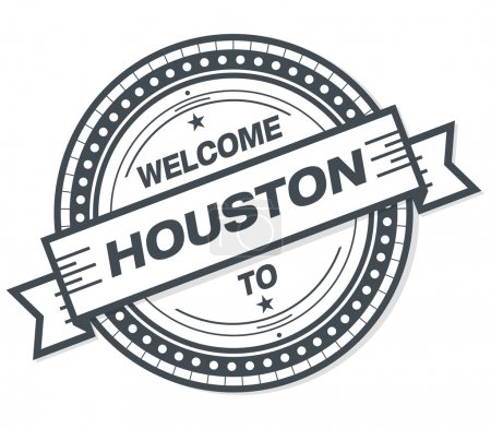 Welcome To Houston Stamp Badge