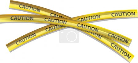 Caution Tape On White Background