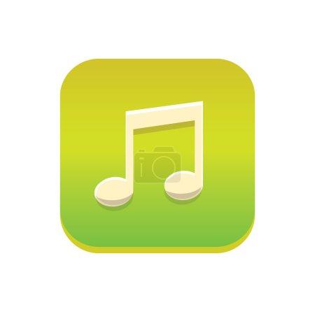 Photo pour Icône de la musique isolé sur fond blanc - image libre de droit