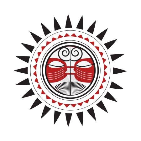 Maori Sun God with Red