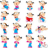 Funny girl in various poses