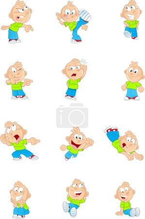 Cartoon funny boy