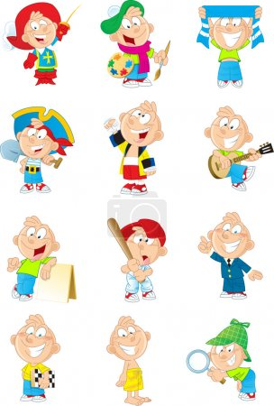 Boy in different images