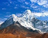 View of Ama Dablam with beautiful cloudy sky